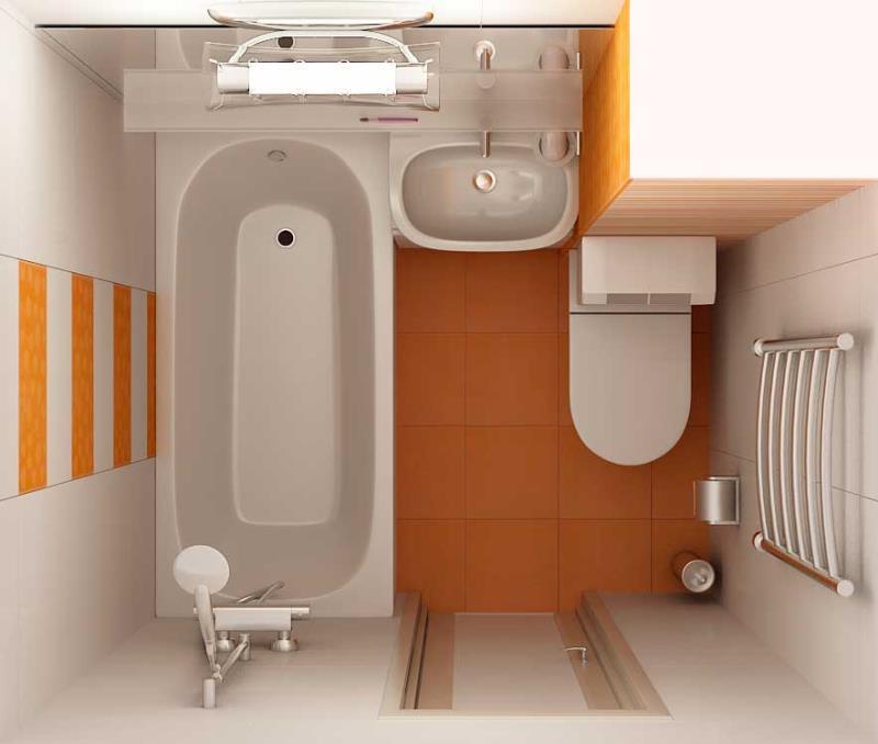 Дизайн ванной 4 кв.м с туалетом и стиральной машиной